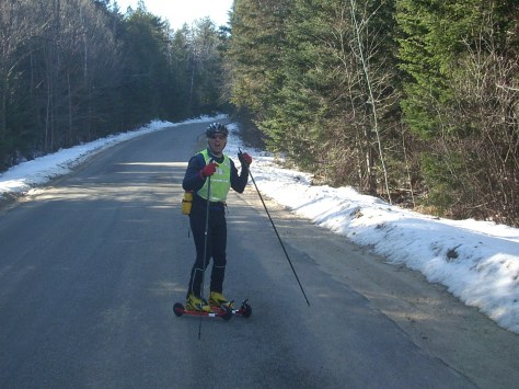 """anyone else realize that we're rollerskiing with all of this snow on the ground?"""