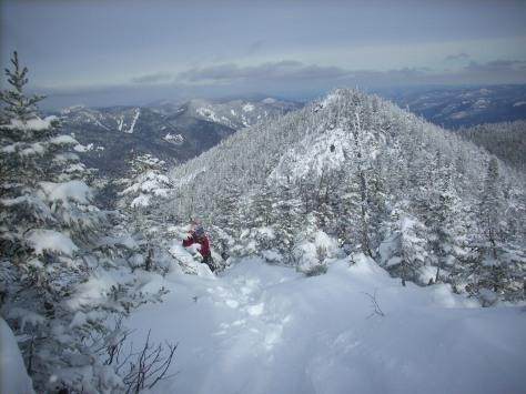 Fiegl on the Nippletop Summit Ridge