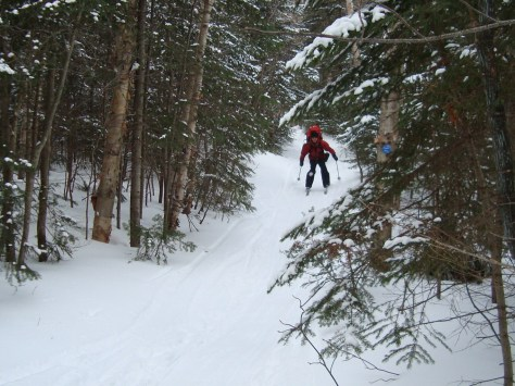 """Bode"" Fiegl screaming down the trail!"