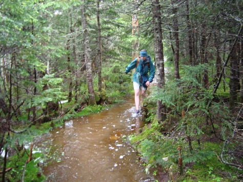"""the Mitten of Might negotiates the """"trail"""" up North Brother"""